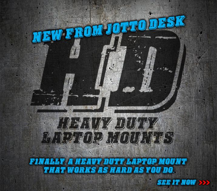 Heavy Duty Laptop Mounts From Jotto Desk