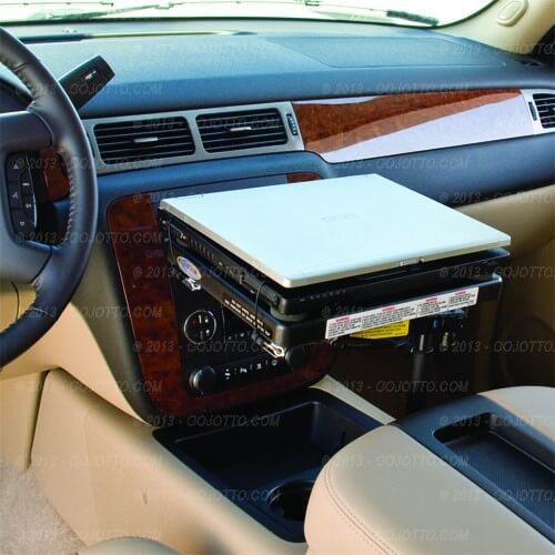 silverado laptop mount sierra suburban 2000 tahoe 2500 chevy gmc mounts gojotto cargo jotto desk